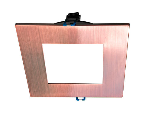 4 in. Square Aged Copper Flat Panel LED Downlight in 5000K