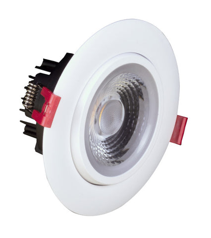 4-inch LED Gimbal Recessed Downlight in White, 3000K