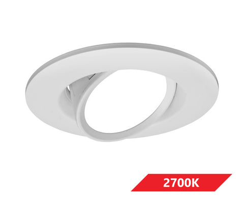 6 in. White Gimbal LED Recessed Downlight, 2700K