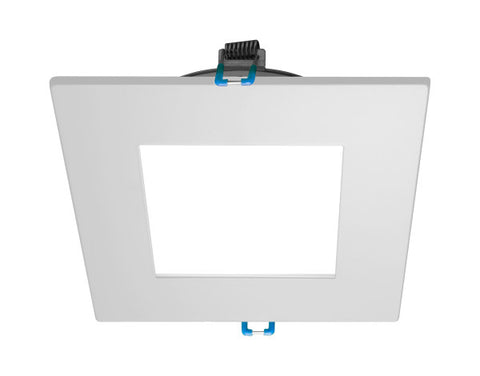 4 in. Square White Flat Panel LED Downlight in 3000K