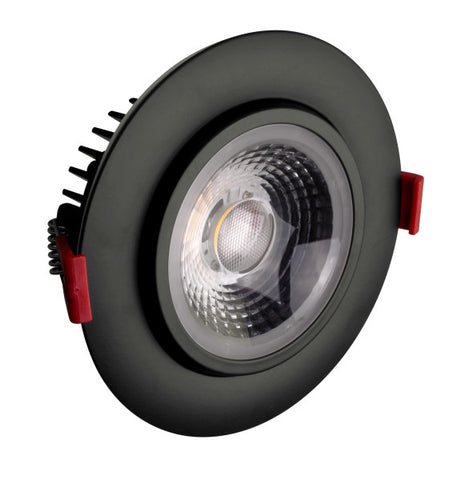 4-inch LED Gimbal Recessed Downlight in Black, 2700K