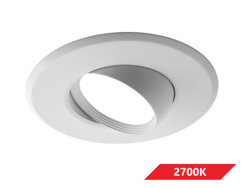 5/6 in. Adjustable LED Eyeball Retrofit Downlight Kit in 2700K