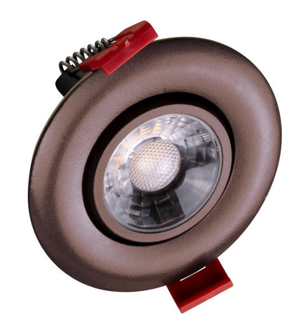3-inch LED Gimbal Recessed Downlight in Oil-Rubbed Bronze, 2700K