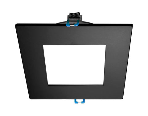 4 in. Square Black Flat Panel LED Downlight in 3000K