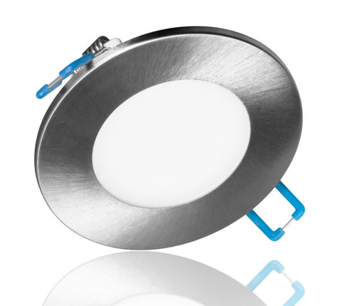 3 in. Round Nickel Flat Panel LED Downlight in 5000K