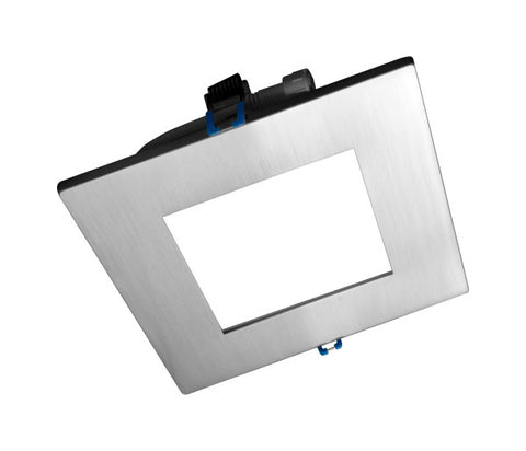 6 in. Square Nickel Flat Panel LED Downlight in 2700K