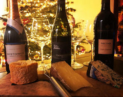Online Christmas wine and cheese tasting