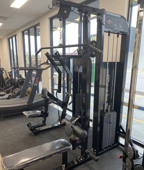 Commercial Lat Pull-Down and Low Seated Row