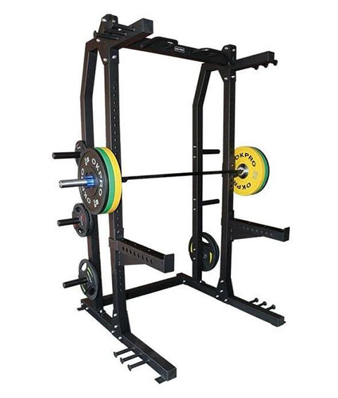 Commercial Power Rack with Plate Holders
