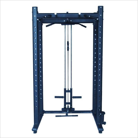 Commercial Power Rack with Lat Pulley - Black | In Stock