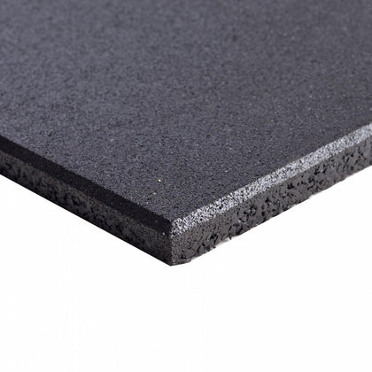 Commercial Grade Rubber Gym Flooring - Black | In Stock