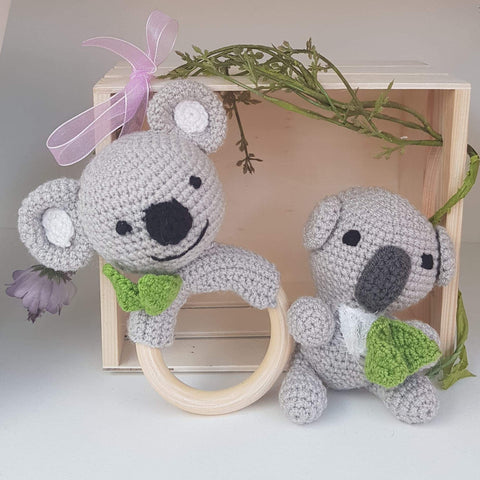 Baby Gift Set - Koala Teething Rattle and Doll