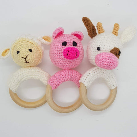 Baby Gift Set - Farmyard Rattle Set