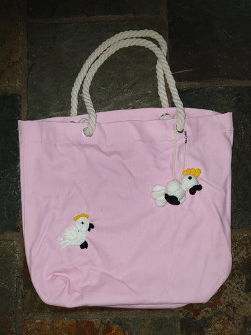 Cotton Canvas bag, pink, Ken Cockatoo
