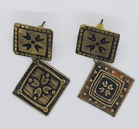 Jewellery - Earrings - Square and Diamond