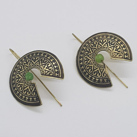 Jewellery - Earrings - Gorgeous Arc (Green)