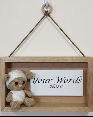 3D Sign - Your Words - Baby Lamb