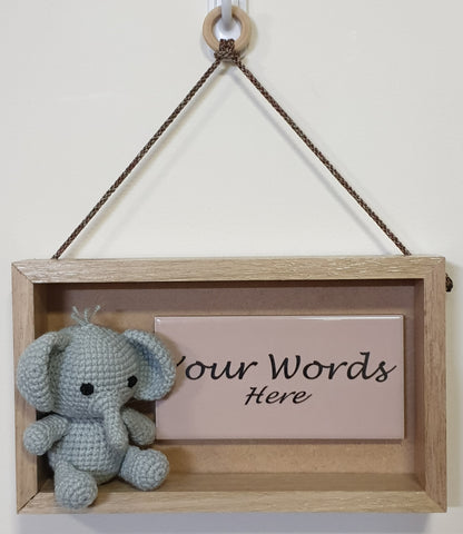 3D Sign - Your Words - Elephant