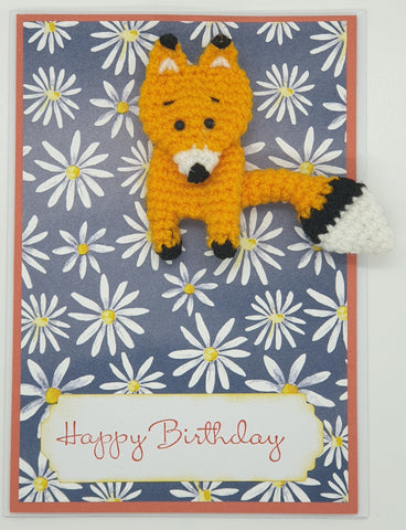 Card Creature Brooch - Fox 1 - Birthday