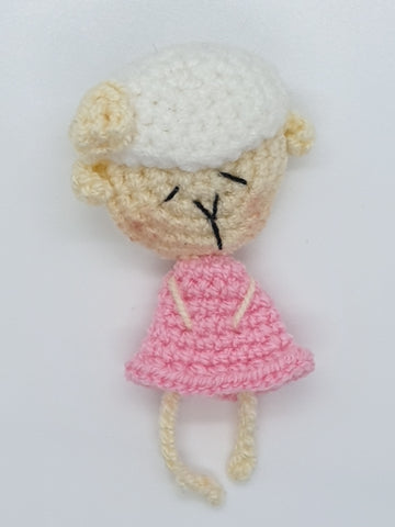 Brooch - Lamb (Pink)
