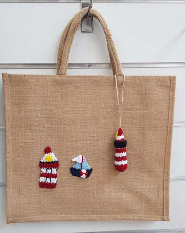 Jute Bag, Rudolph Red Lighthouse