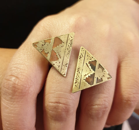 Jewellery - Ring - Two Pyramids
