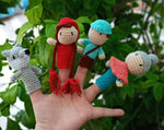 Funny finger Puppets - Little Red Riding Hood (4 figures)