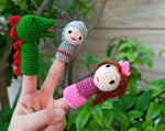 Funny finger Puppets - The Princess and the Dragon (3 figures)