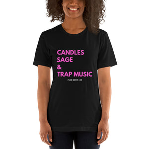 Load image into Gallery viewer, Candles & Trap Music Short-Sleeve Unisex T-Shirt