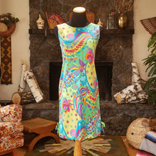 Load image into Gallery viewer, 1960s Retro Mod Screenprinted Day Dress - Made in Japan - Womens Small Medium