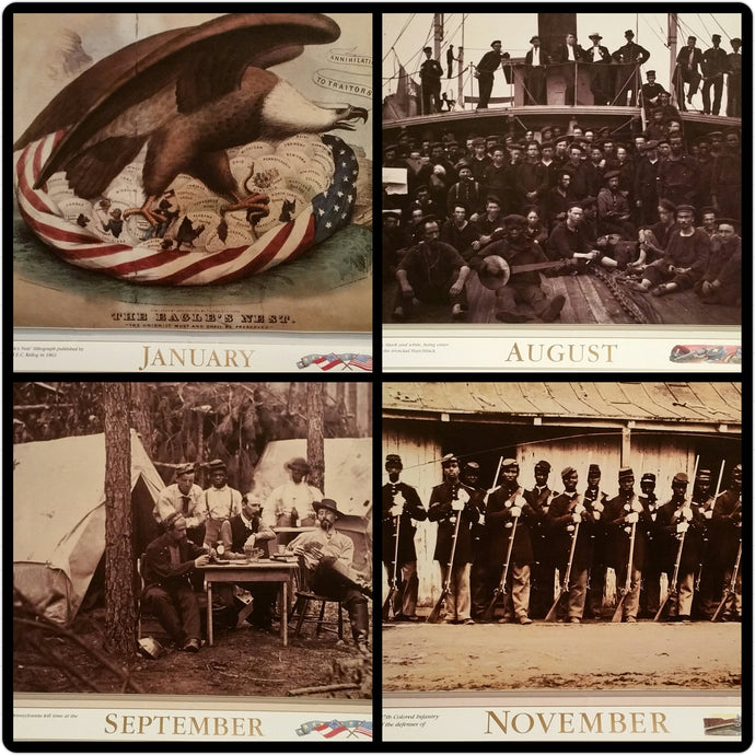 1994 Civil War Wall Calendar - Paper Ephemera Memorabilia Clip Art Scrapbooking - American Documentaries - Geoffrey Ward Ric Burns Ken Burns