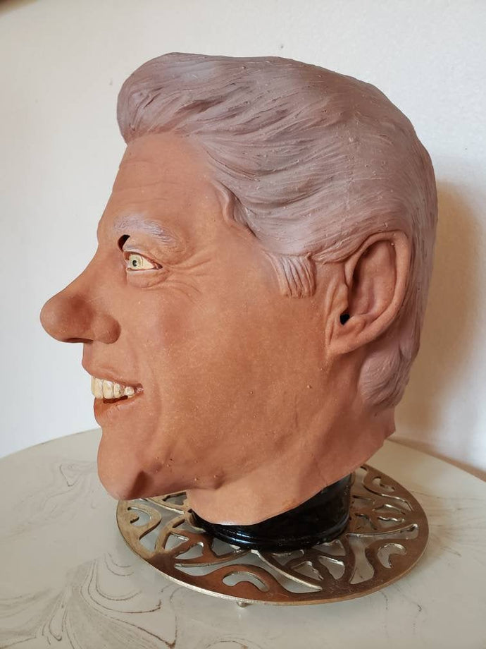 1993 Bill Clinton Rubber Mask - DEADSTOCK Rubies Mask - UNWORN - Tag Intact - Vintage President Mask - Vintage Rubies Mask - Halloween Mask