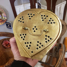 Load image into Gallery viewer, Antique Heart Shaped Brass Cricket Box - Gold Tone Stash Box - Made in India - Antique Jewelry Box - Vintage Lock Box - Treasure Chest Lock