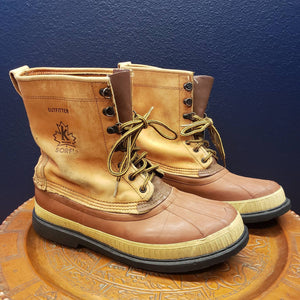 Mens 12 Vintage SOREL Kaufman Outfitter Boots - Winter Snow Boots - Caribou Sorels - Rubber Duck Boots - Lace-up Boots - Unlined