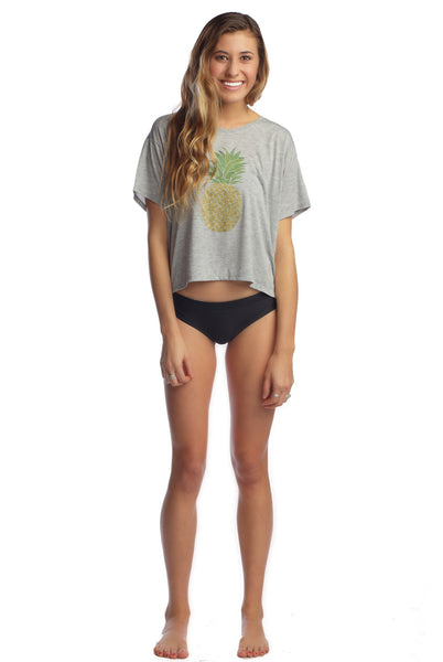 Live Love Surf-LS-A Pineapple A Day Crop Tee
