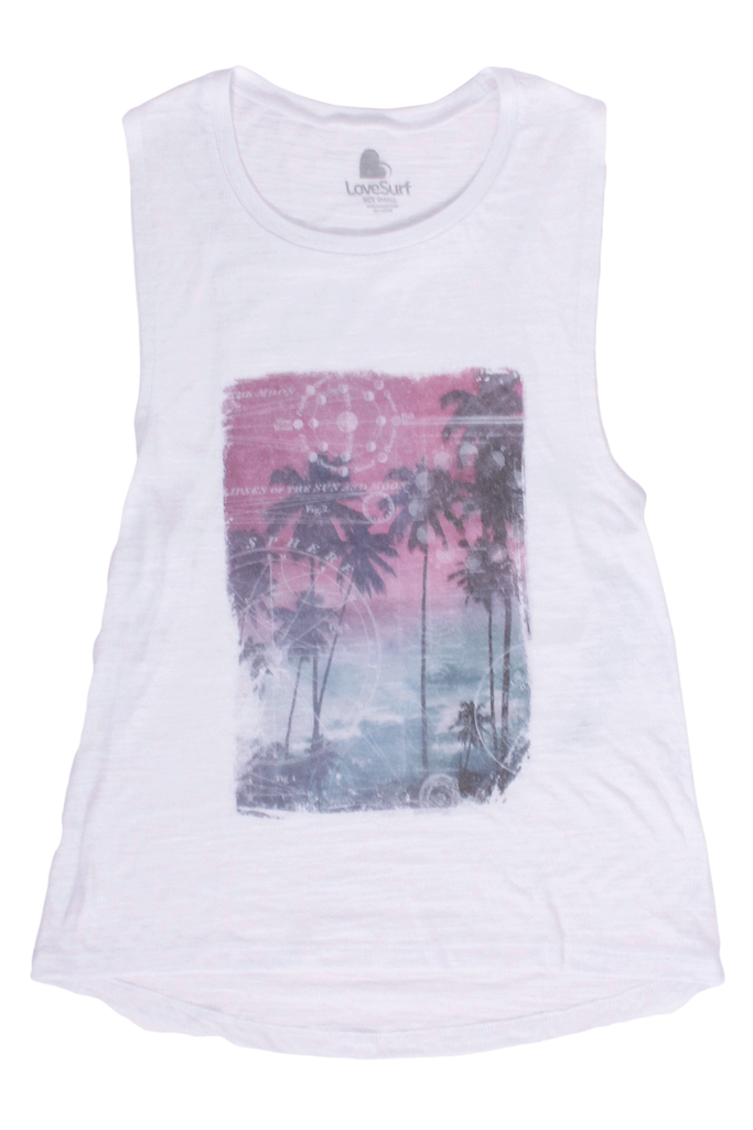 Tropical Moon Muscle Tank