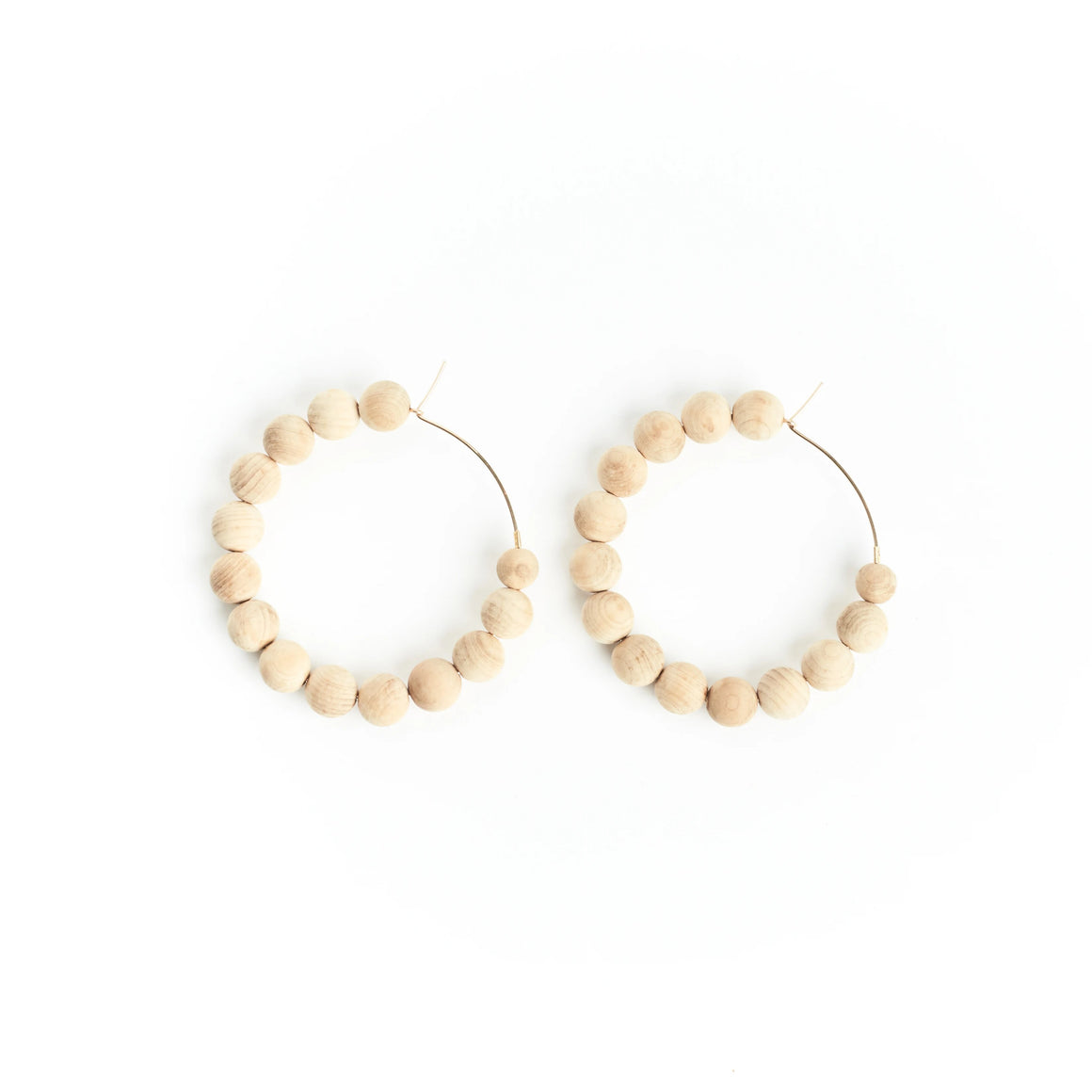 mini sandalwood hoops