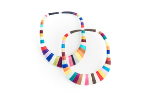 Color Block Bib Necklace