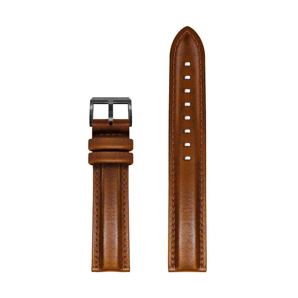 Leather Strap – Gun/Camel/Camel