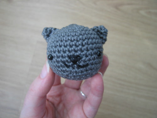 Free Playing Cats Crochet Amigurumi Pattern Head