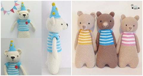 How to personalize an amigurumi pattern customized bear