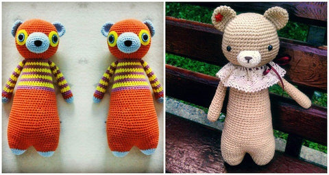 How to personalize an amigurumi pattern more customized bears