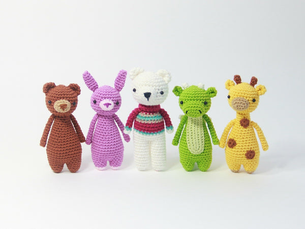 Mini animal amigurumi patterns by Little Bear Crochets plus free polar bear pattern