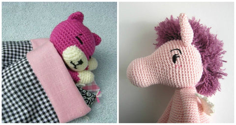 How to Embroider on Amigurumi First Duo Picture
