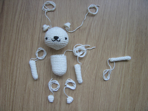 Sitting Cat crochet pattern components