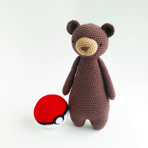 Tall Bear with Pokeball