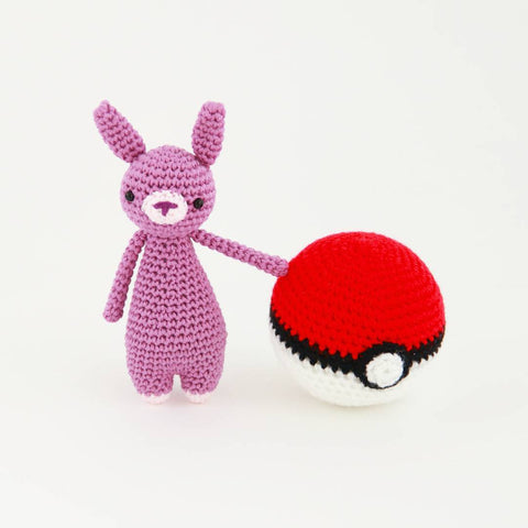 Mini Rabbit with Pokeball