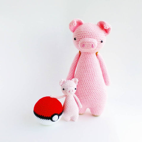 Tall Pig and Mini Pig with Pokeball