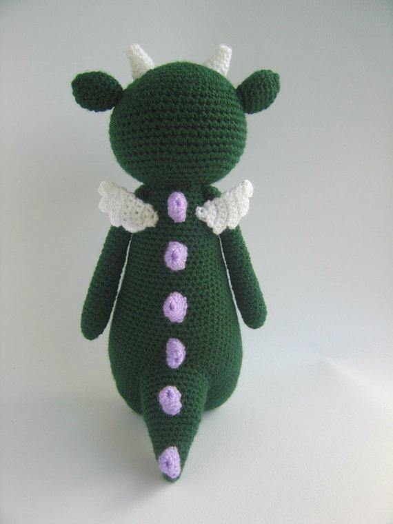 Dragon PDF Amigurumi Crochet Pattern - Little Bear Crochets