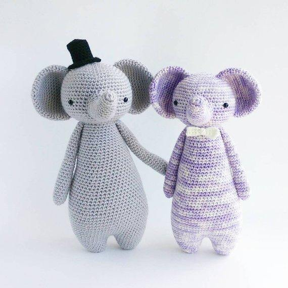 Elephant PDF Amigurumi Crochet Pattern - Little Bear Crochets